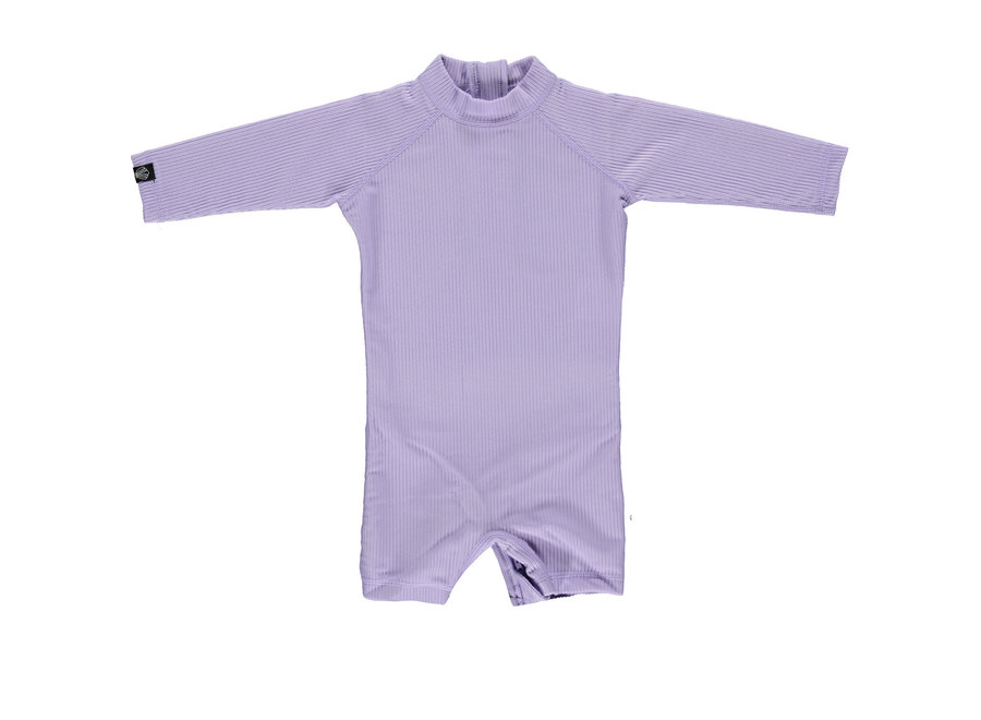 Lavender Ribbed Baby suit