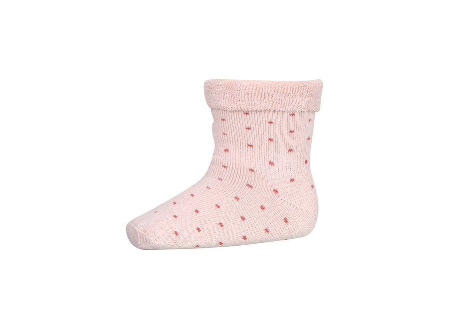 Plain Baby Terry Socks 853 Rose Dust