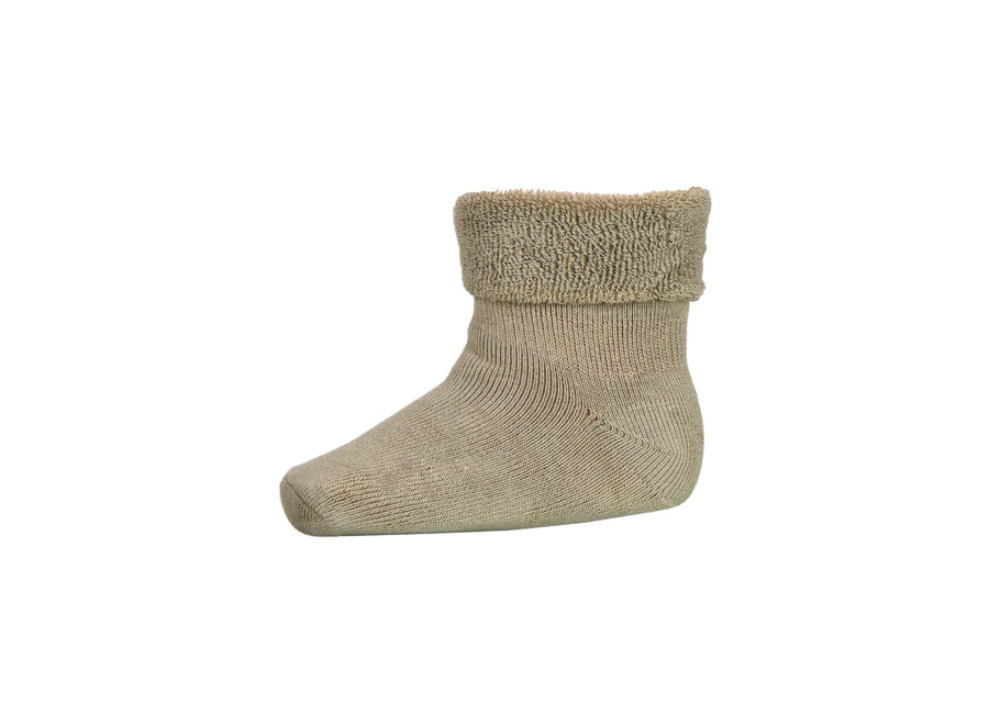 Plain Baby Terry Socks 3009 Safari Green