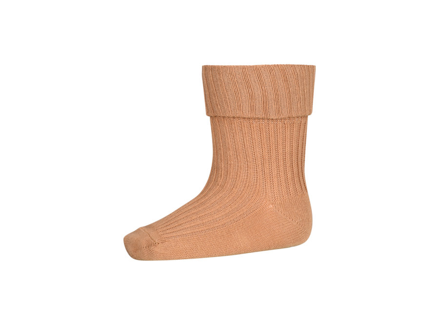 Cotton Rib Baby Socks 4155 Apple Cinnamon