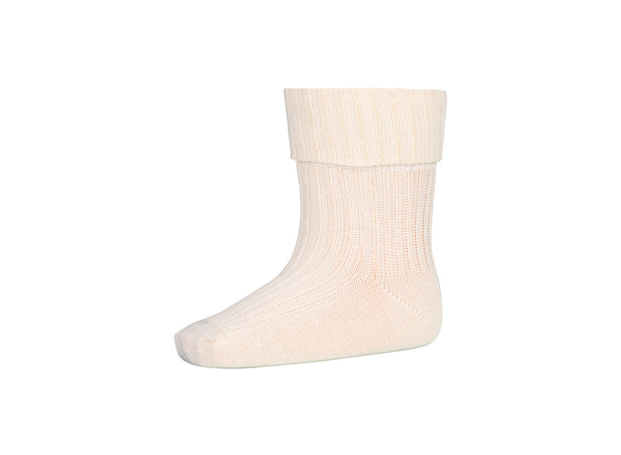 Cotton Rib Baby Socks 4109 Ecru
