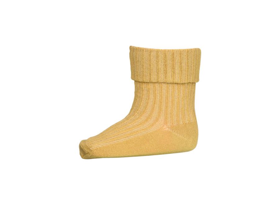 Cotton Rib Baby Socks 4098 Ochre
