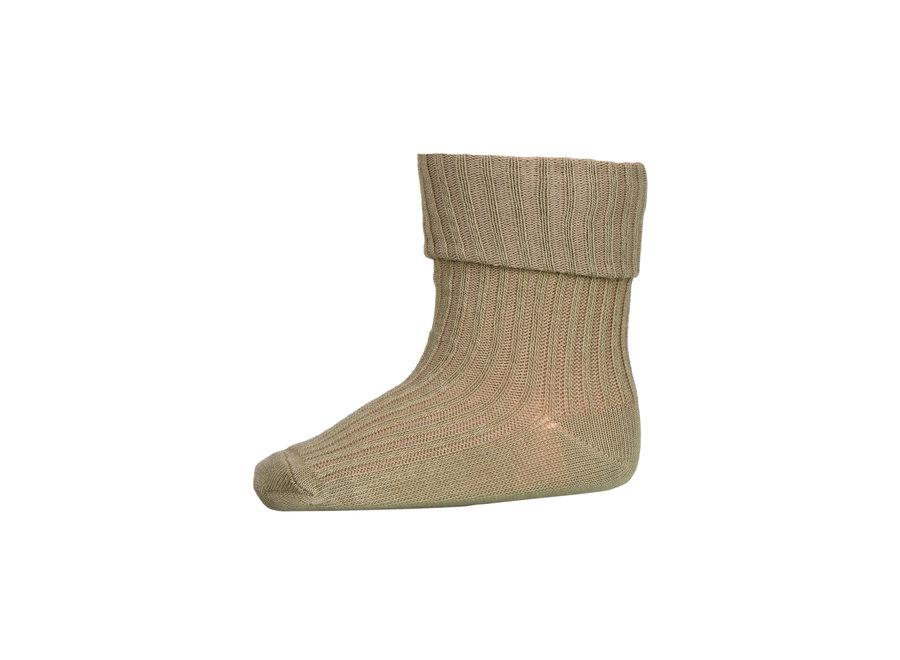 Cotton Rib Baby Socks 3009 Safari Green