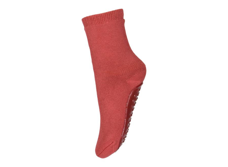 Cotton Socks with anti-slip 4270 Marsala