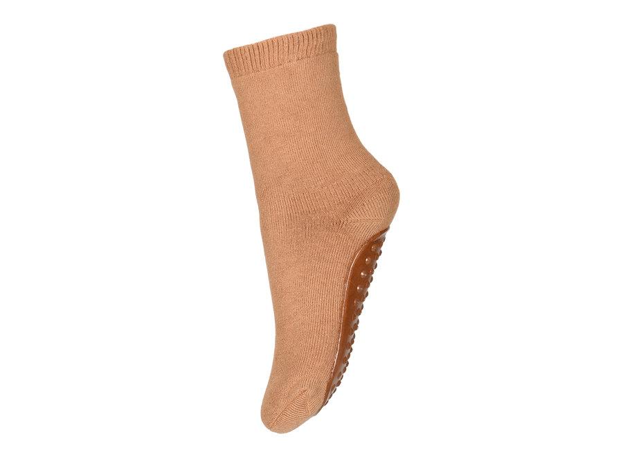 Cotton Socks with anti-slip 4155 Dark Apple Cinnamon