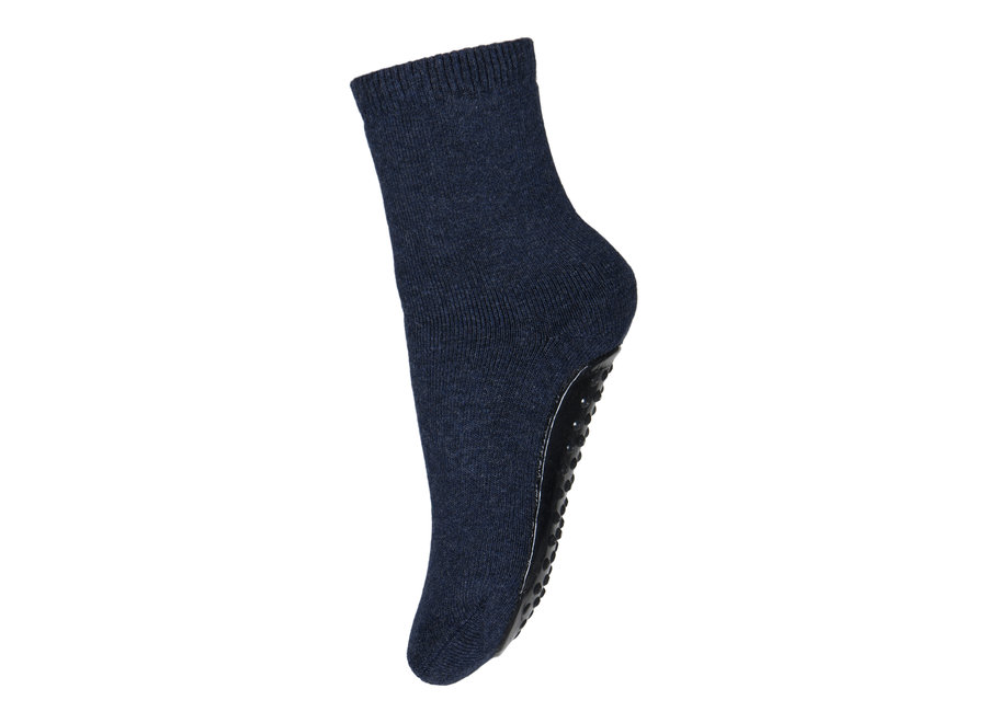 Cotton Socks with anti-slip 498 Dark Denim Melange