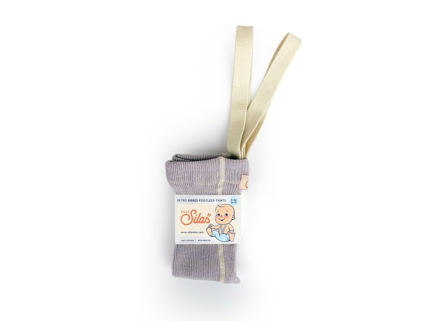 Footless Cotton Tights Creamy Lavender