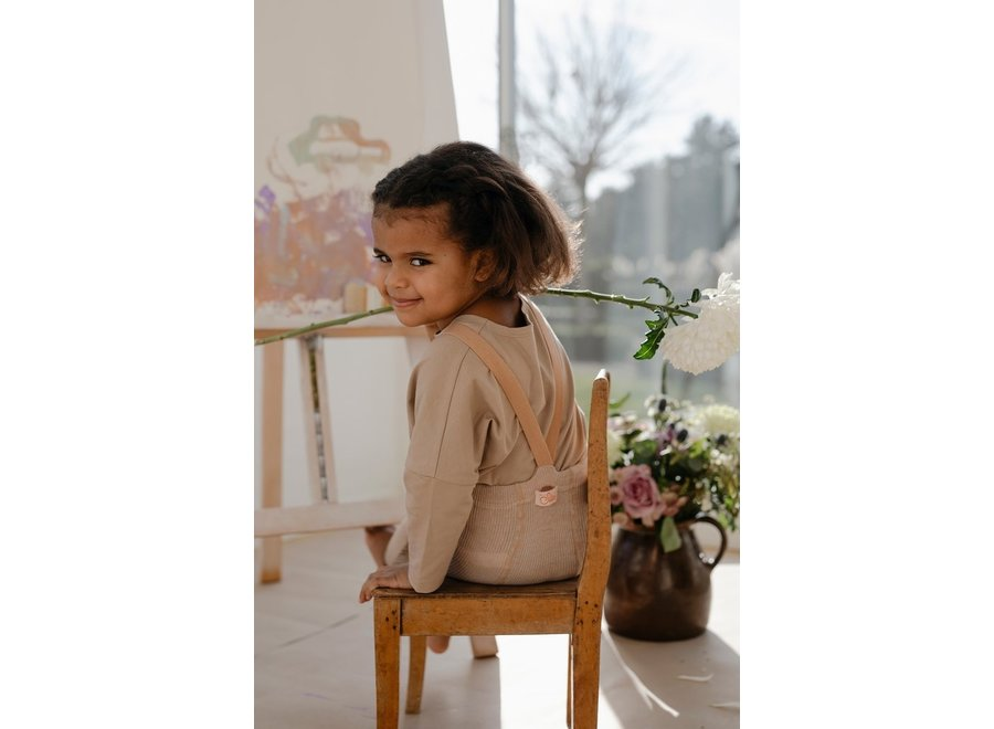 Footless Cotton Tights Silverly Brown