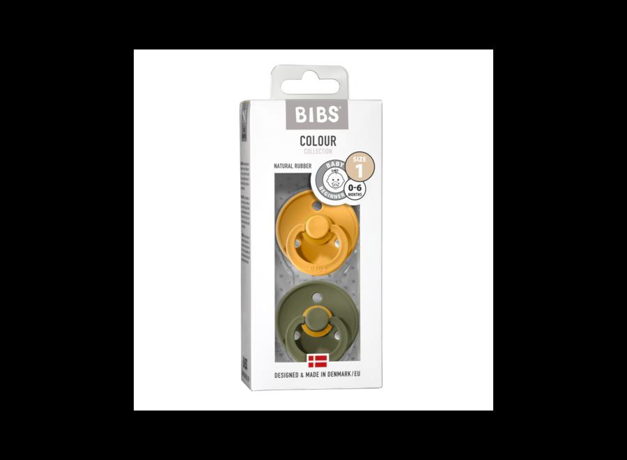 Bibs pacifier set Honey Bee/Olive
