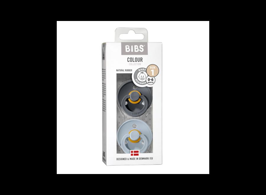 Bibs pacifier set Iron/baby blue