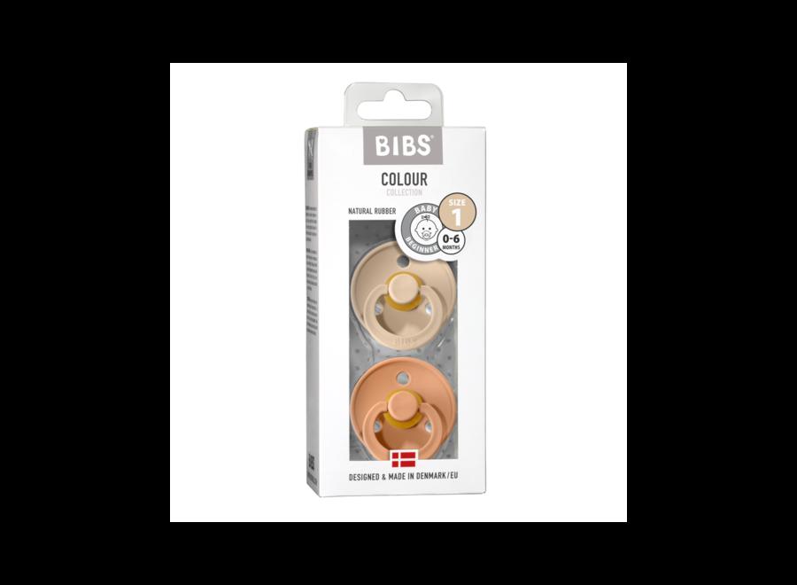 Bibs pacifier set Vanilla/Peach