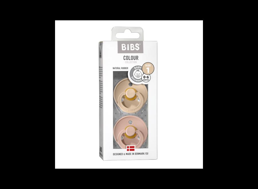 Bibs pacifier set Vanilla/Blush