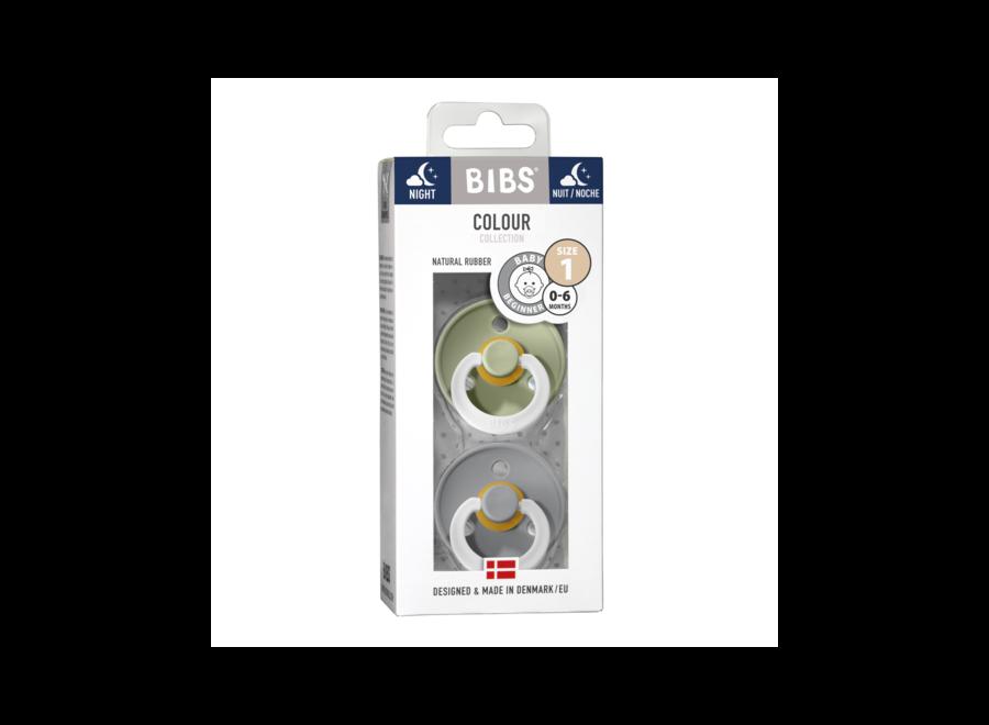 Bibs pacifier set Sage Night/Cloud Night