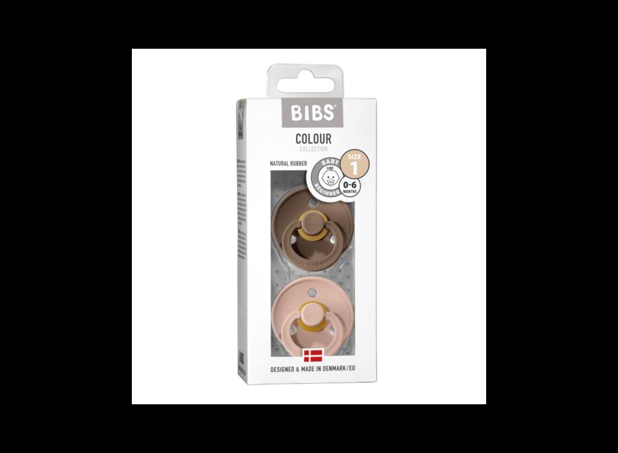 Bibs pacifier set Dark Oak/Blush