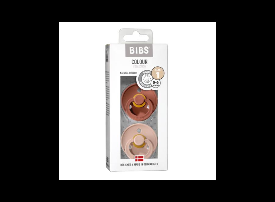 Bibs pacifier set Woodchuck/Blush