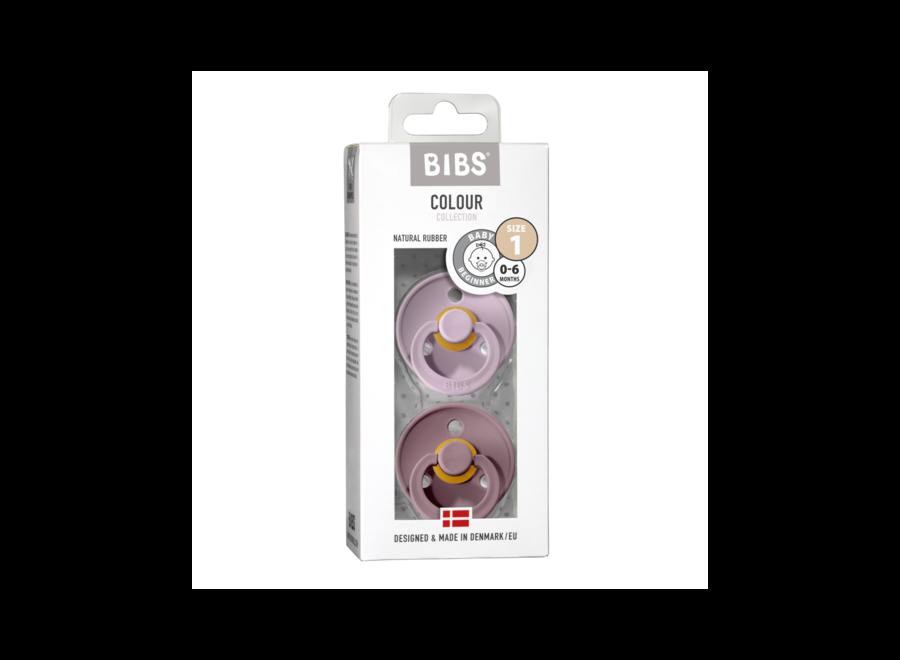 Bibs pacifier set Dusky Lilac/Heather