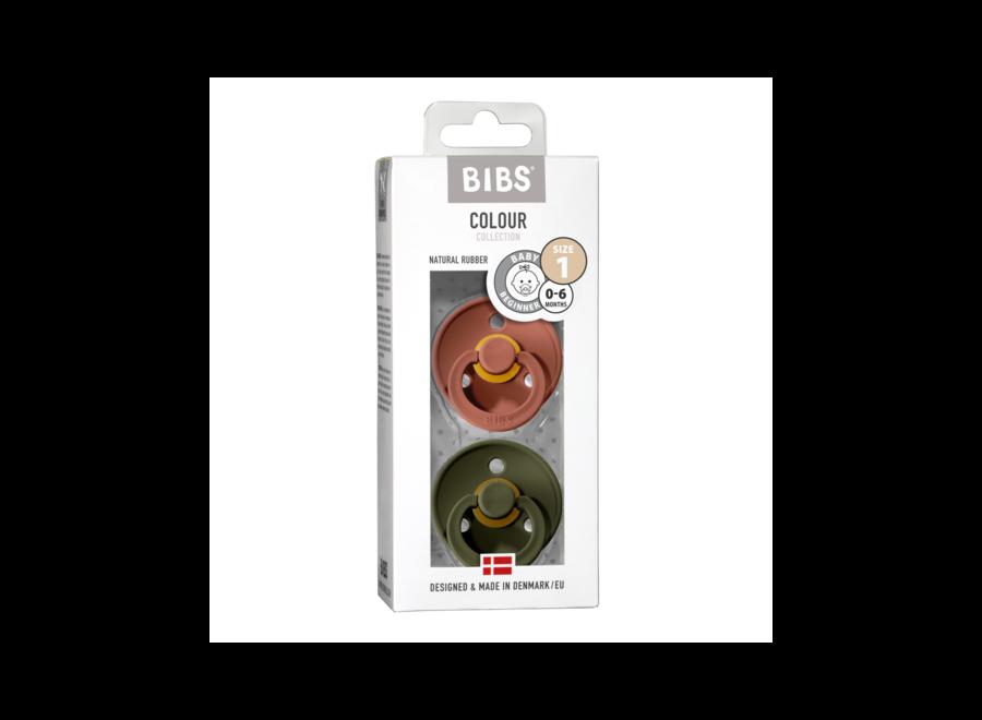 Bibs pacifier set Woodchuck/Hunter Green