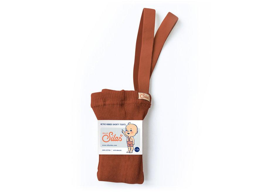 Shorty Cotton Tights Cinnamon