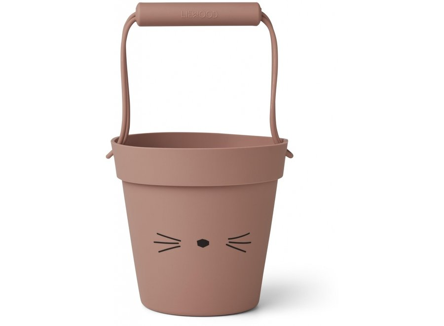 Linda bucket Cat dark rose