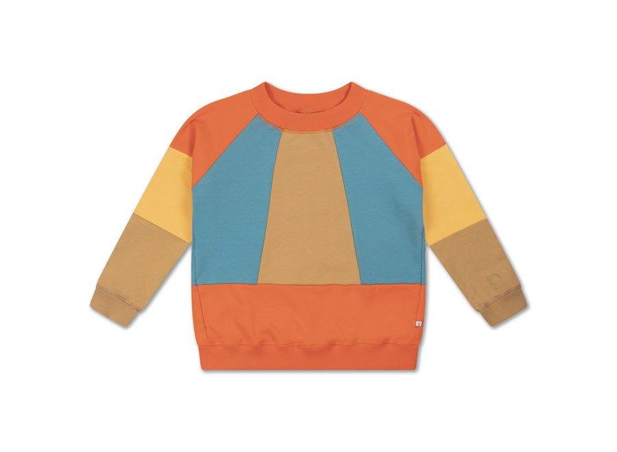classic sweater color block
