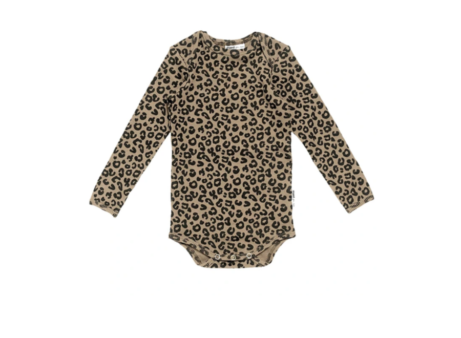 Brown leopard AOP Romper
