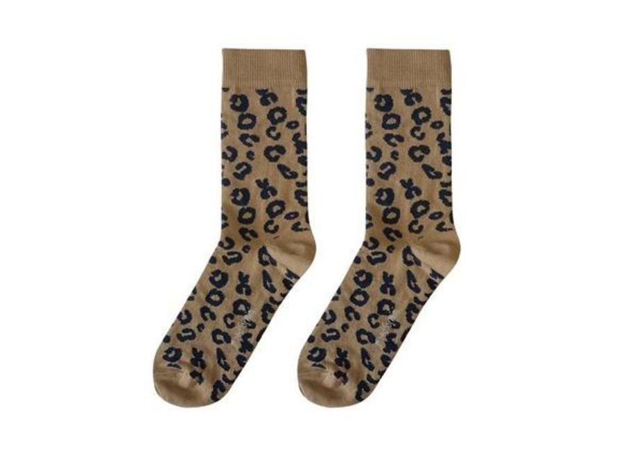 Brown Leopard AOP Mama socks