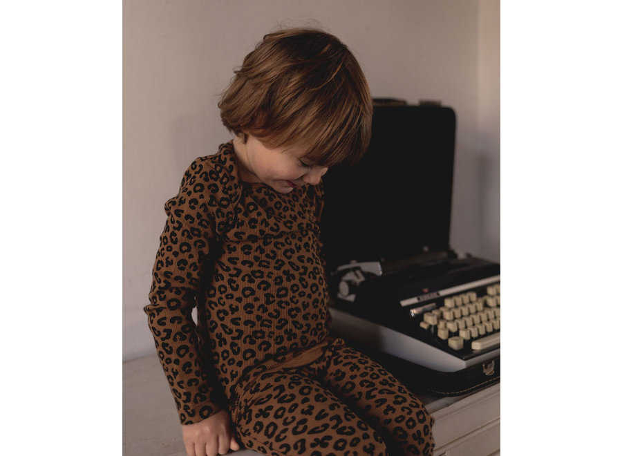 Chocolate leopard AOP  Longsleeve