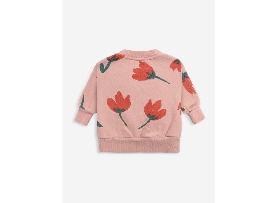 Big Flowers all over sweatshirt BABY