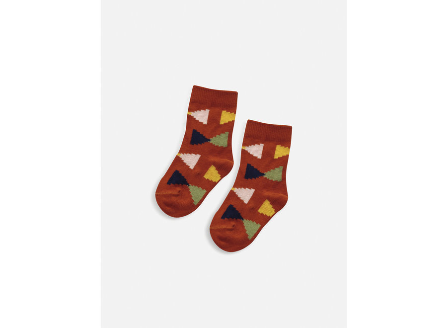 Geometric baby socks