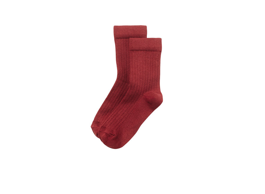 Socks Brick Red