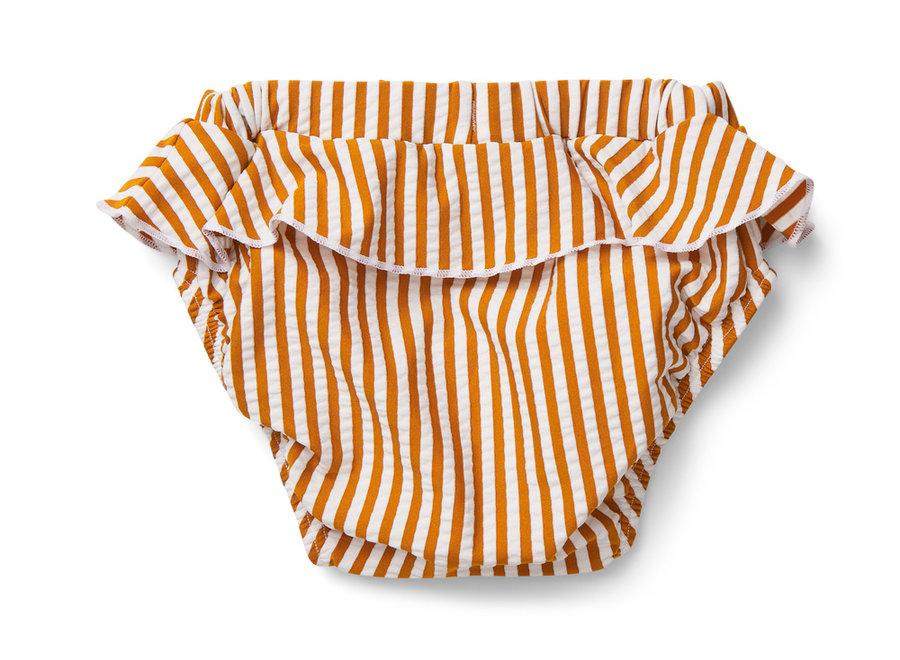Elise baby swim pants seersucker mustard/white