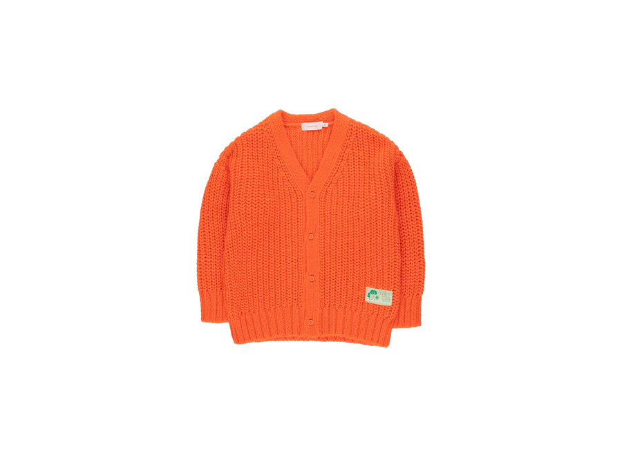Solid Cardigan red KID