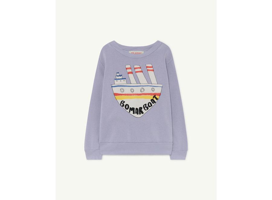 Bear Kids + Sweatshirt Soft Purple Boat