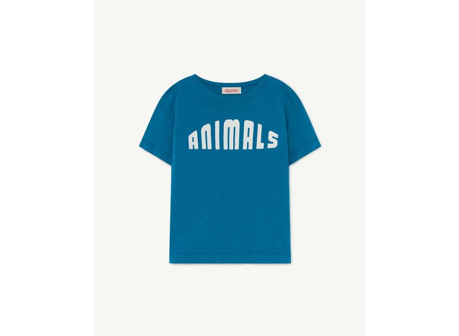 Rooster Kids + T-shirt + Blue Animals