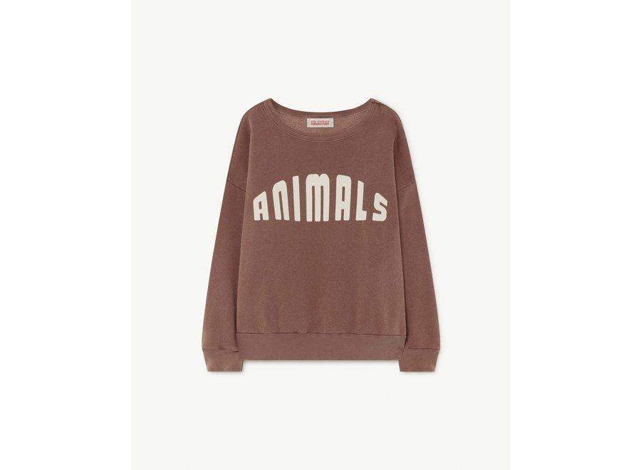 Big Bear Kids Sweater Brown Animals