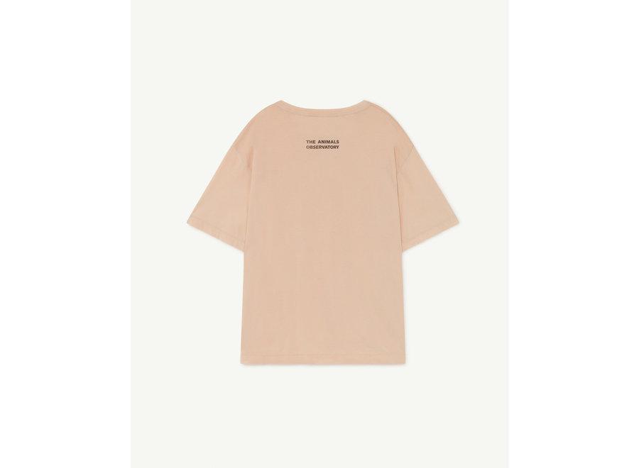 Rooster Oversize Kids  T-shirt Soft Pink Poseidon