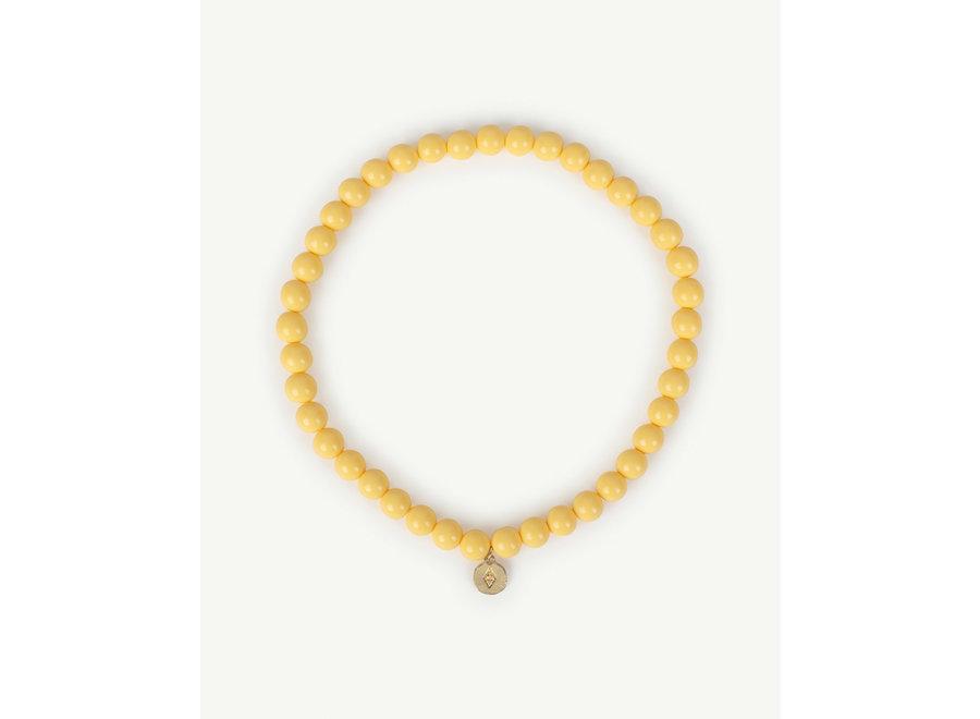 Iguana Necklace Yellow one size