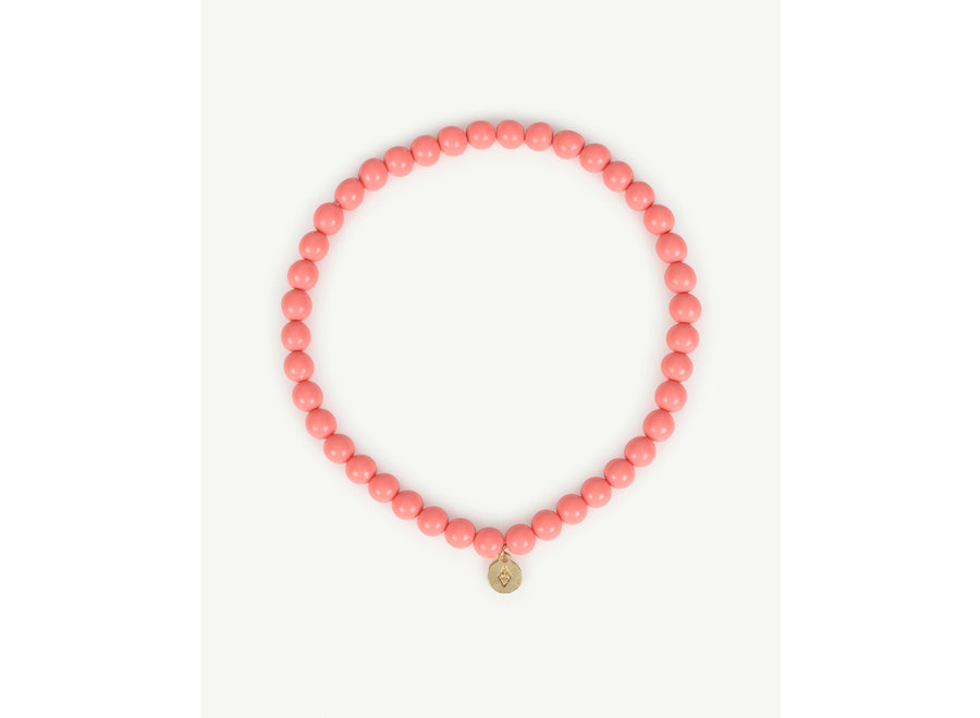 Iguana Necklace Pink one size