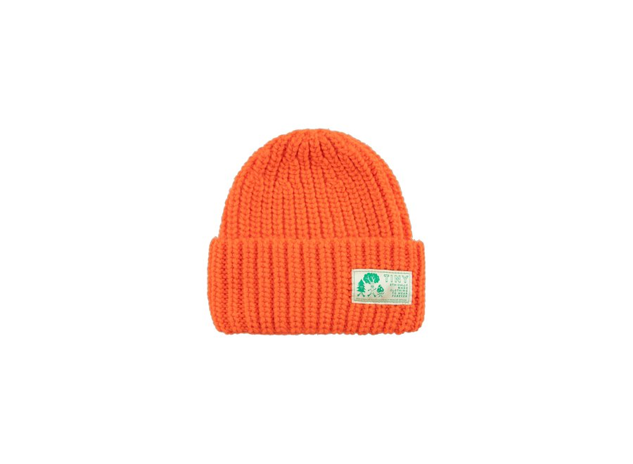 Solid Beanie red KID one size