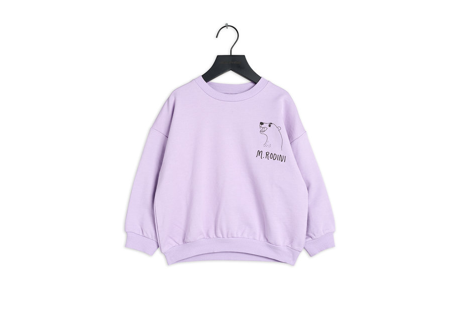 Polar bear sp sweatshirt purple