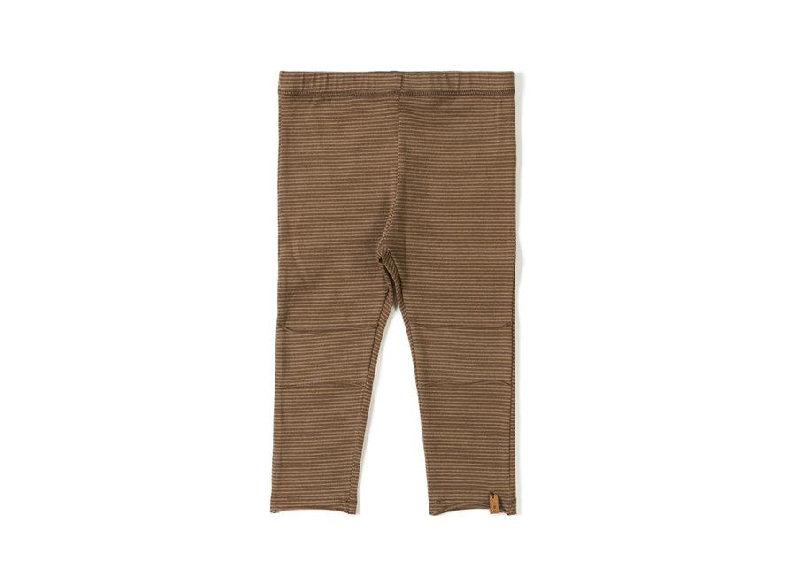 Tight legging Stripe Toffee Choco