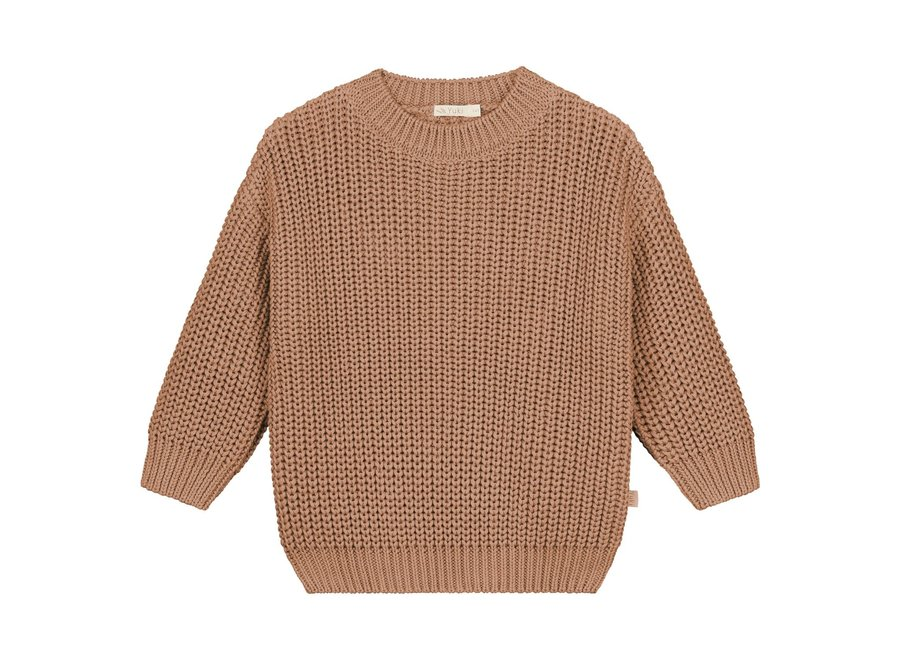 Chunky knitted sweater Coral