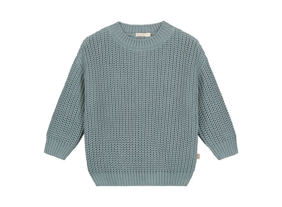 Chunky knitted sweater Ocean