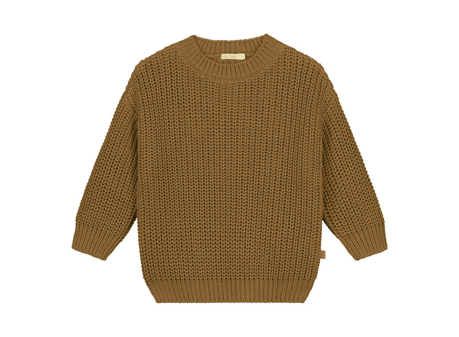 Chunky knitted sweater Gold