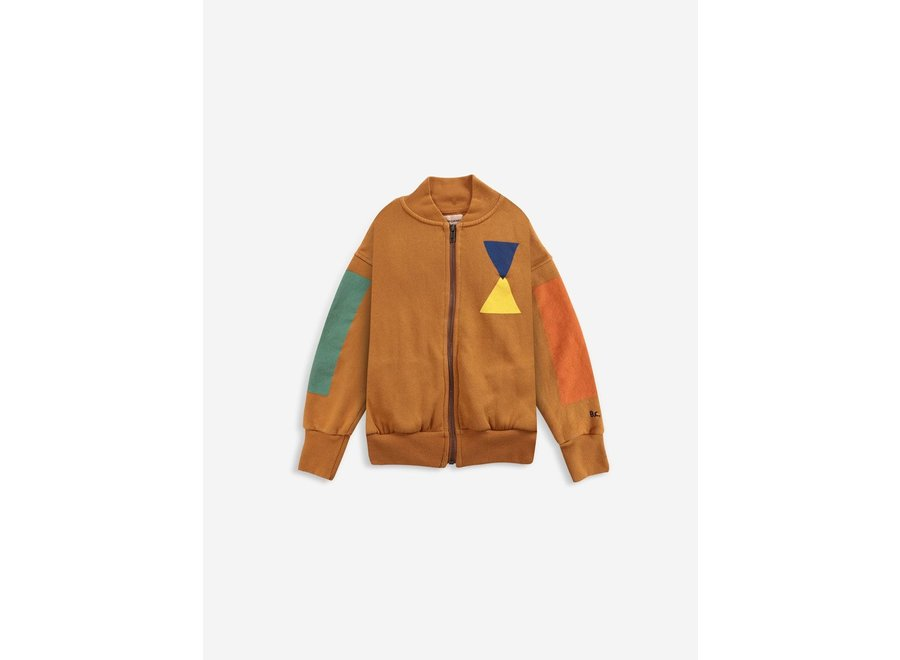 Geometric zipped sweatshirt