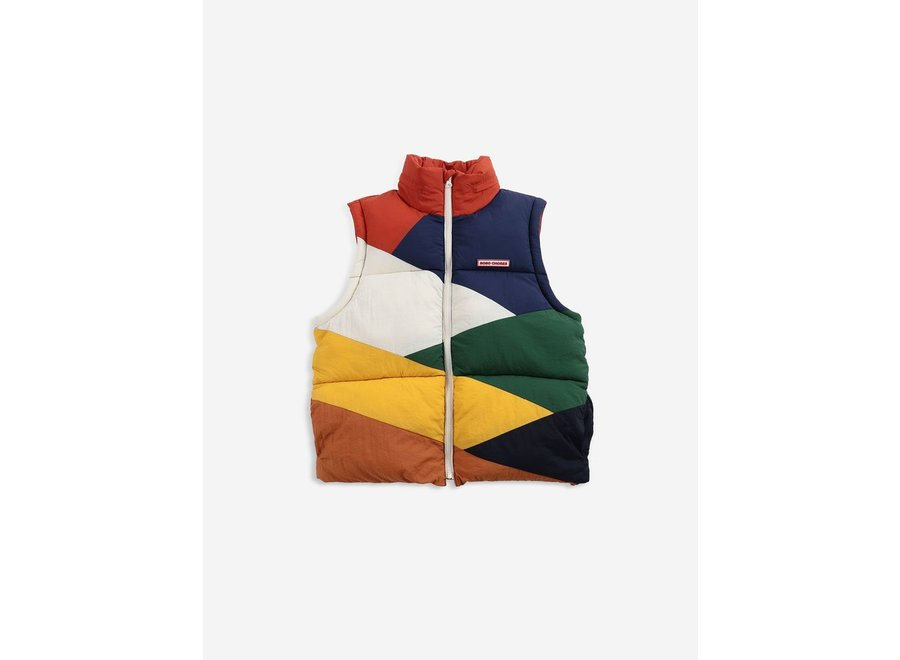 Multi color block padded jacket