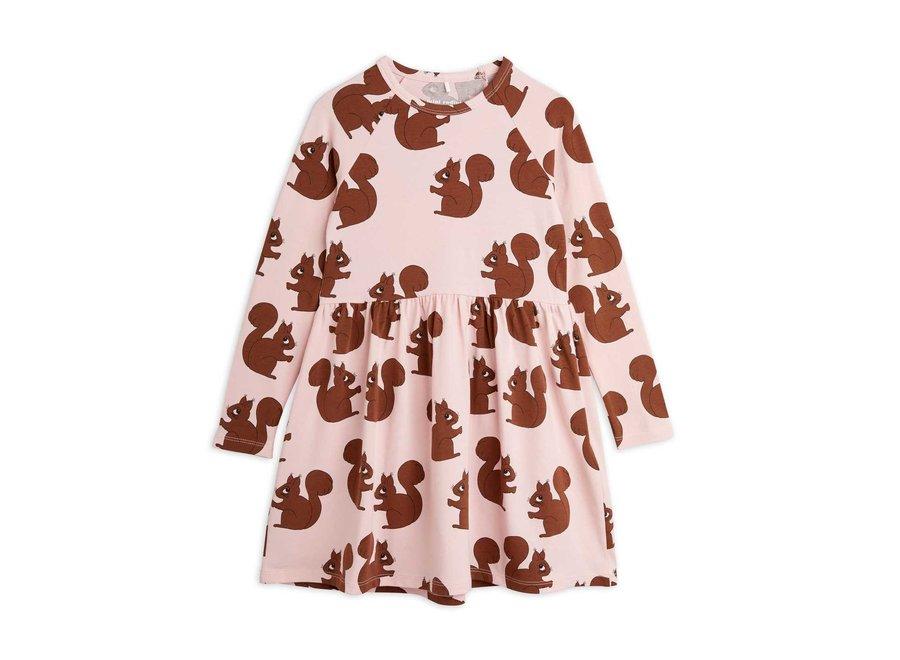 Squirrel aop ls dress
