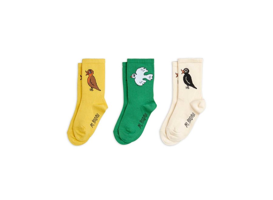 Birdswatching socks 3-pack