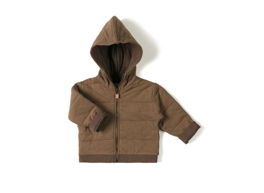 Baby jacket Stripe Toffee