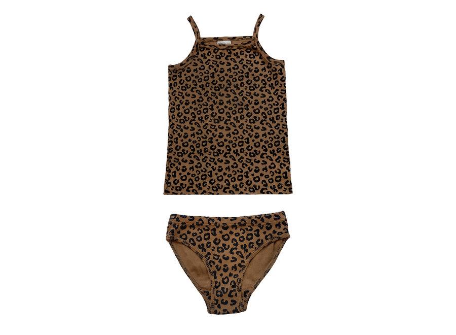 Chocolate leopard brief set